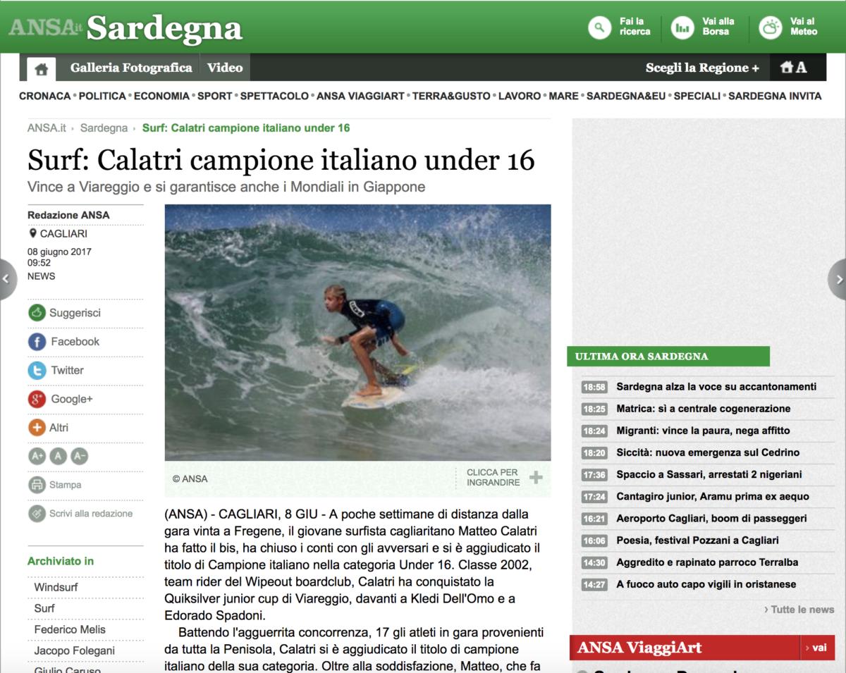 Calatri campione italiano under 16